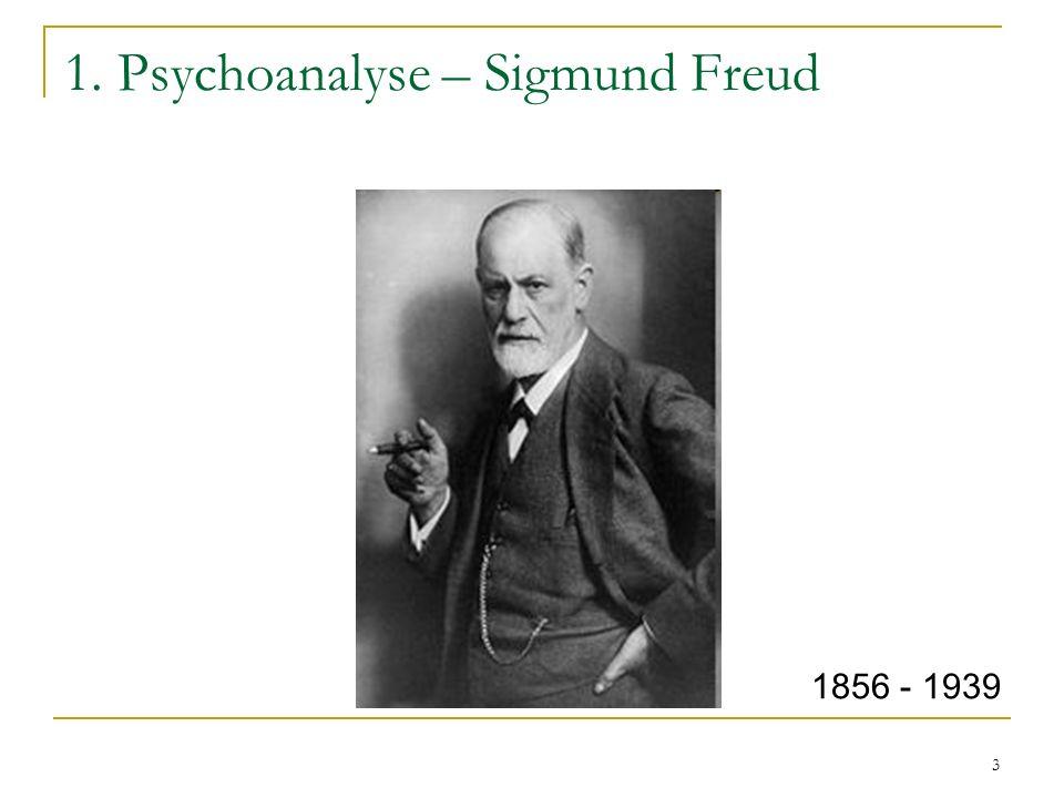3 1. Psychoanalyse – Sigmund Freud 1856 - 1939