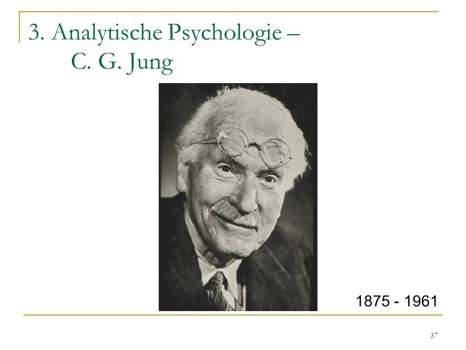 37 3. Analytische Psychologie – C. G. Jung 1875 - 1961