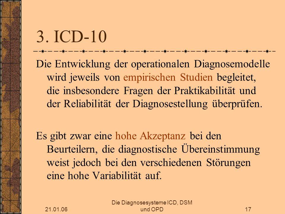 21.01.06 Die Diagnosesysteme ICD, DSM und OPD17 3.