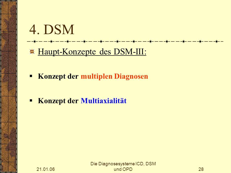 21.01.06 Die Diagnosesysteme ICD, DSM und OPD28 4.