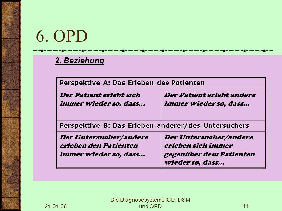 21.01.06 Die Diagnosesysteme ICD, DSM und OPD44 6.