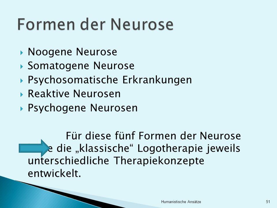Noogene Neurose Somatogene Neurose Psychosomatische Erkrankungen Reaktive Neurosen Psychogene Neurosen Für diese fünf Formen der Neurose hatte die kla