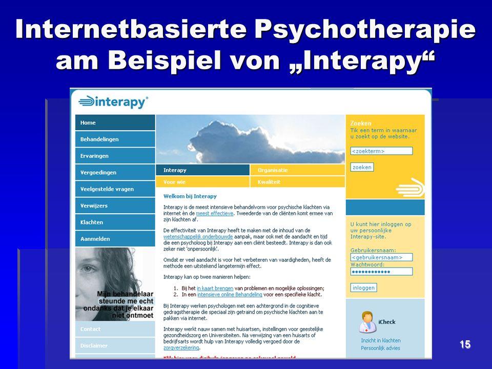 15 Internetbasierte Psychotherapie am Beispiel von Interapy