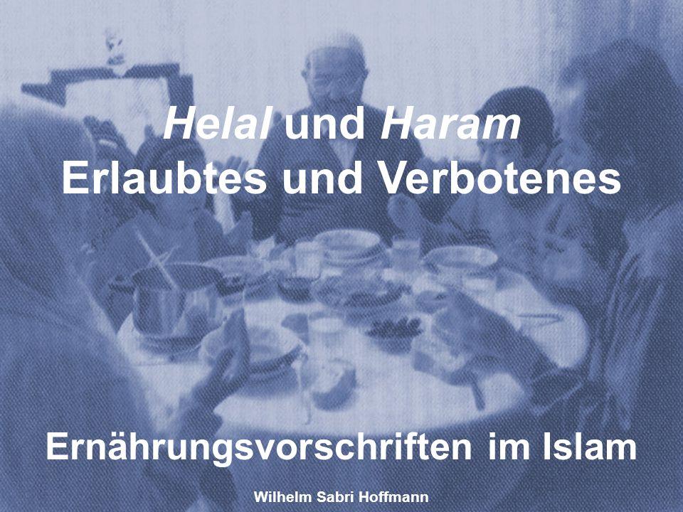 Wilhelm Sabri Hoffmann Helal und Haram Erlaubtes und Verbotenes Ernährungsvorschriften im Islam