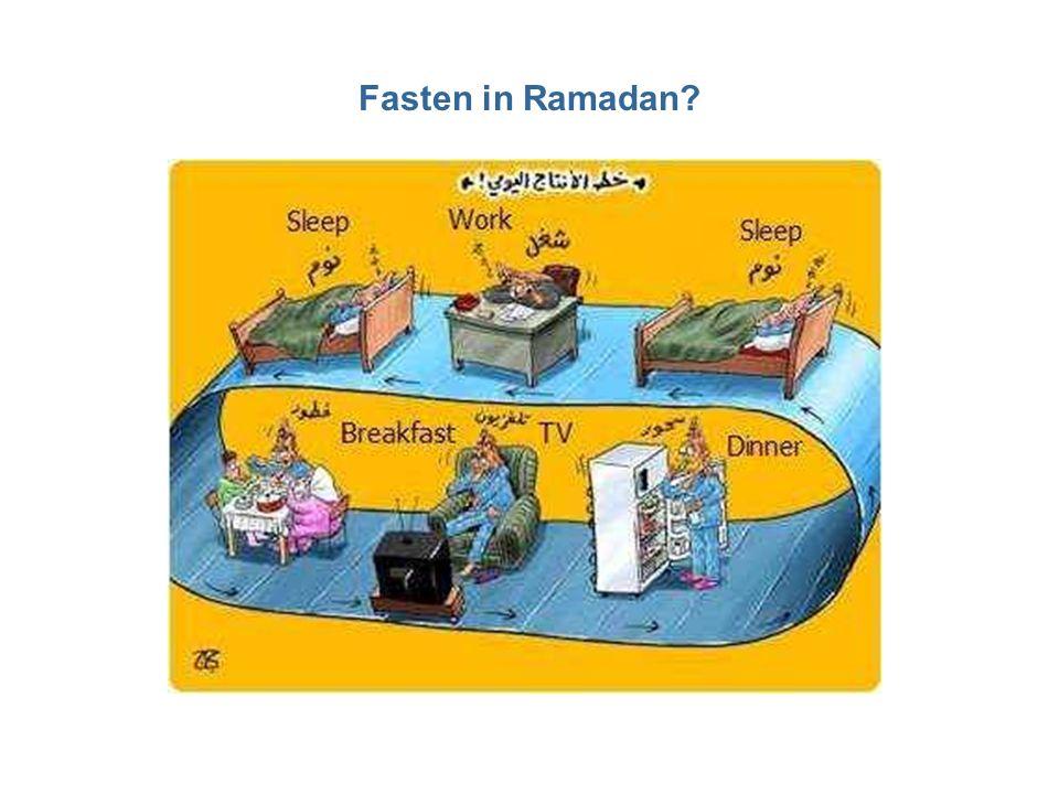 Fasten in Ramadan?