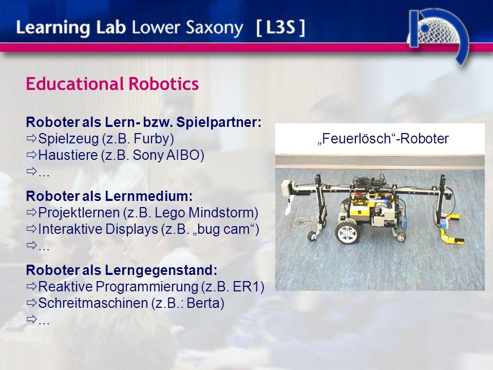 Educational Robotics Roboter als Lern- bzw. Spielpartner: Spielzeug (z.B.