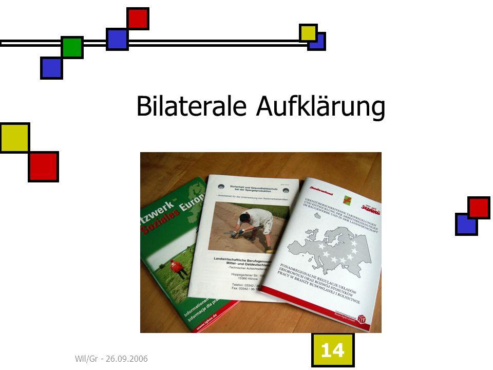 Wil/Gr - 26.09.2006 14 Bilaterale Aufklärung