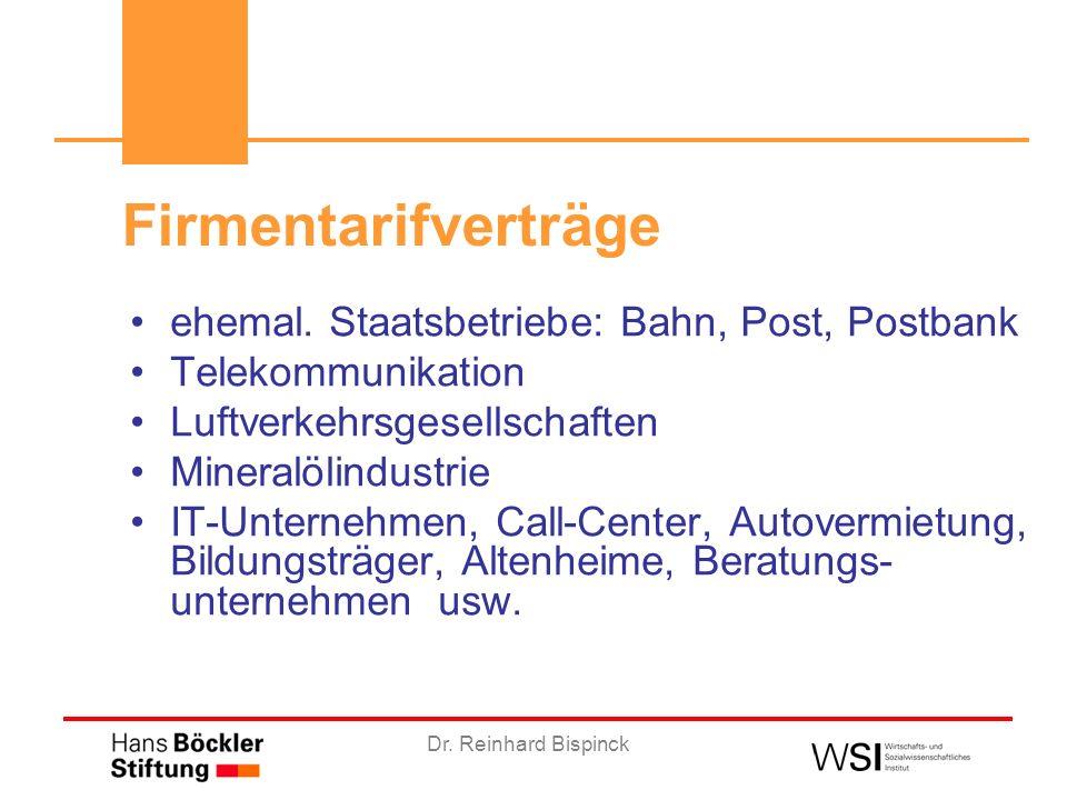 Dr. Reinhard Bispinck Firmentarifverträge ehemal.