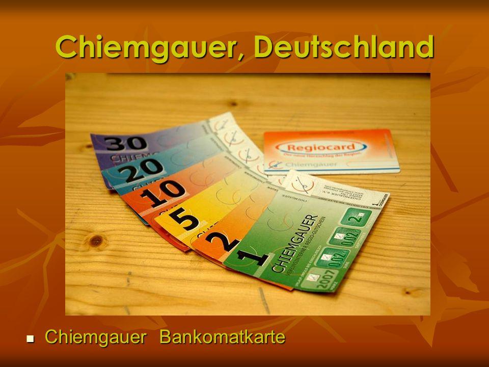 Chiemgauer, Deutschland Chiemgauer Bankomatkarte Chiemgauer Bankomatkarte