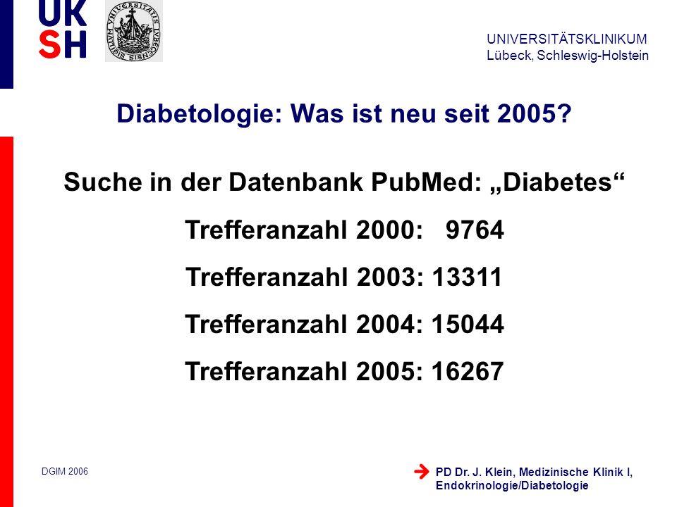 UNIVERSITÄTSKLINIKUM Schleswig-Holstein 19.10.2005 / 3 Medizinische Klinik I, Endokrinologie/Diabetologie