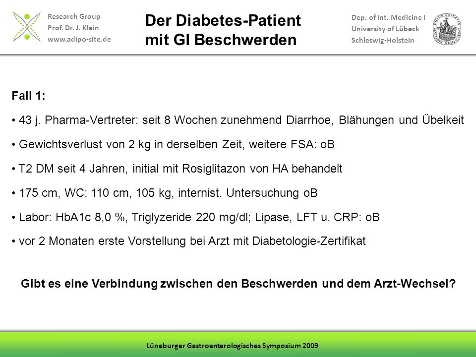 Research Group Prof.Dr. J. Klein www.adipo-site.de Dep.