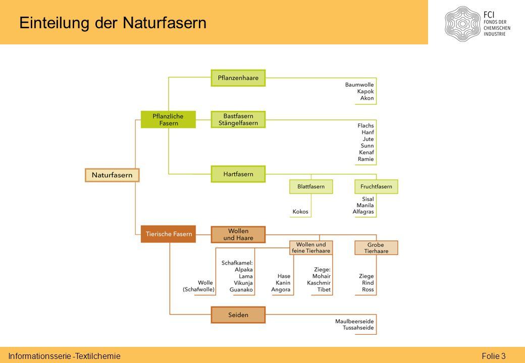 Folie 3Informationsserie -Textilchemie Einteilung der Naturfasern