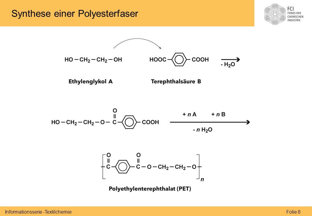 Folie 8Informationsserie -Textilchemie Synthese einer Polyesterfaser