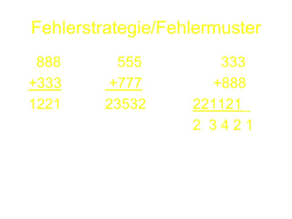 Fehlerstrategie/Fehlermuster 888 555 333 +333 +777 +888 122123532221121_ 2 3 4 2 1