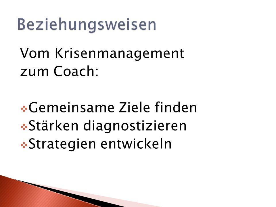 Vom Krisenmanagement zum Coach: Gemeinsame Ziele finden Stärken diagnostizieren Strategien entwickeln