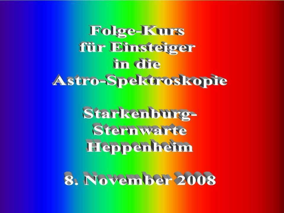 22 Wie muss der Spektrograph am Teleskop montiert sein ?