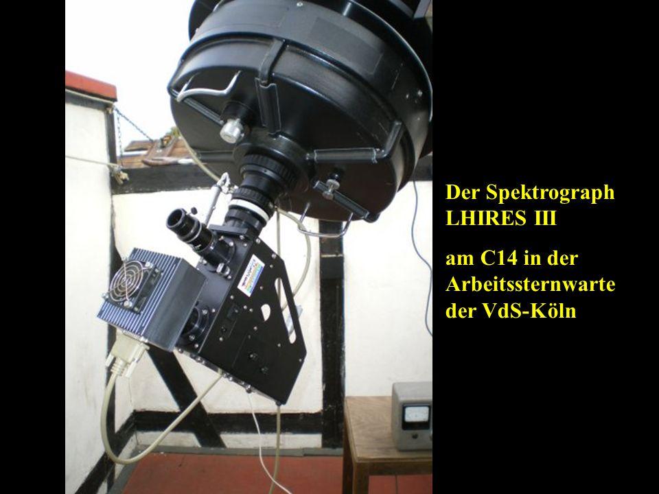 Der Spektrograph LHIRES III am C14 in der Arbeitssternwarte der VdS-Köln