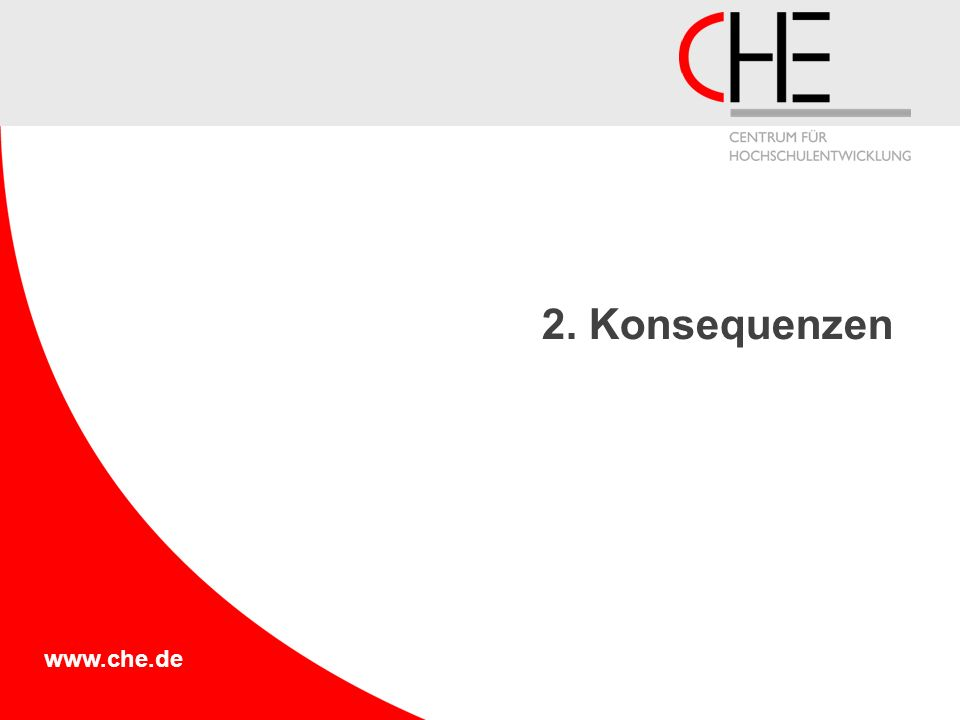 www.che.de 2. Konsequenzen