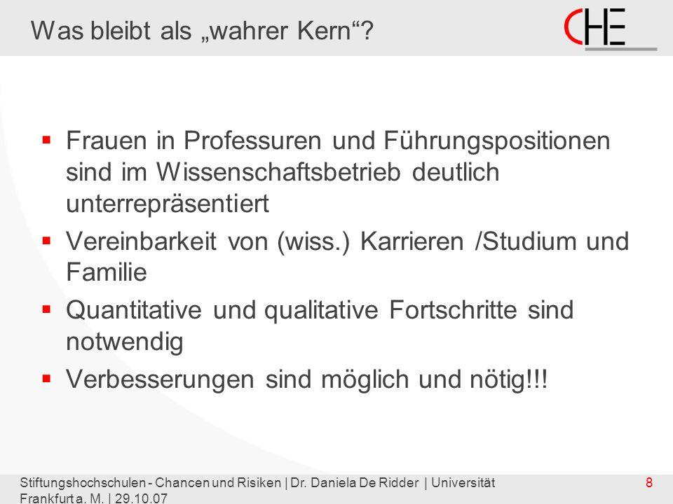 Stiftungshochschulen - Chancen und Risiken | Dr. Daniela De Ridder | Universität Frankfurt a.