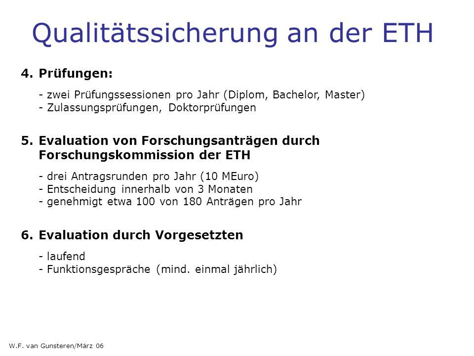 4.Prüfungen: - zwei Prüfungssessionen pro Jahr (Diplom, Bachelor, Master) - Zulassungsprüfungen, Doktorprüfungen 5.Evaluation von Forschungsanträgen d