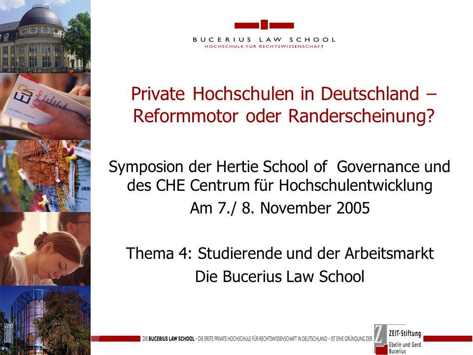 Private Hochschulen in Deutschland – Reformmotor oder Randerscheinung.