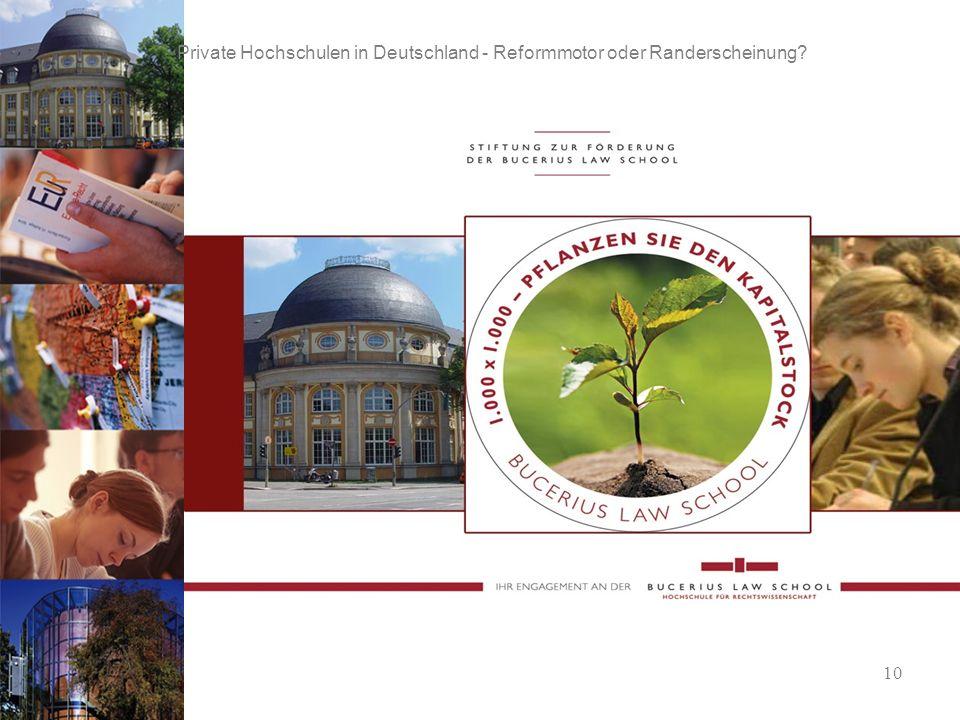 10 Private Hochschulen in Deutschland - Reformmotor oder Randerscheinung