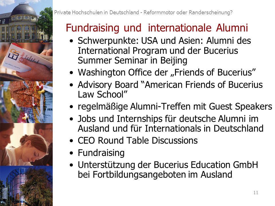 11 Private Hochschulen in Deutschland - Reformmotor oder Randerscheinung.