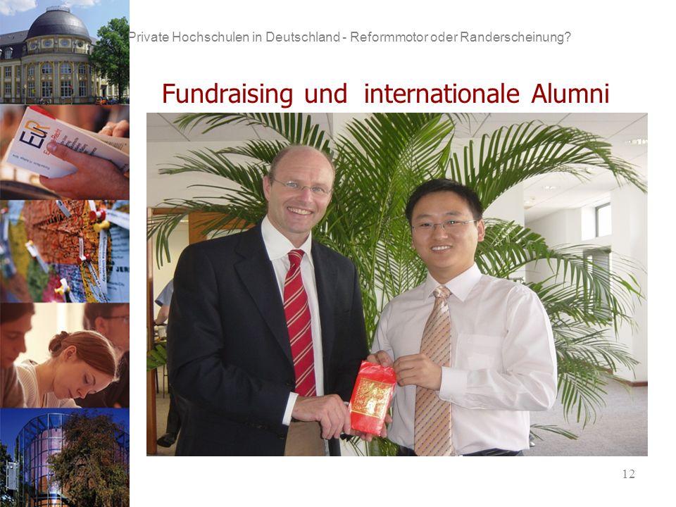 12 Private Hochschulen in Deutschland - Reformmotor oder Randerscheinung.