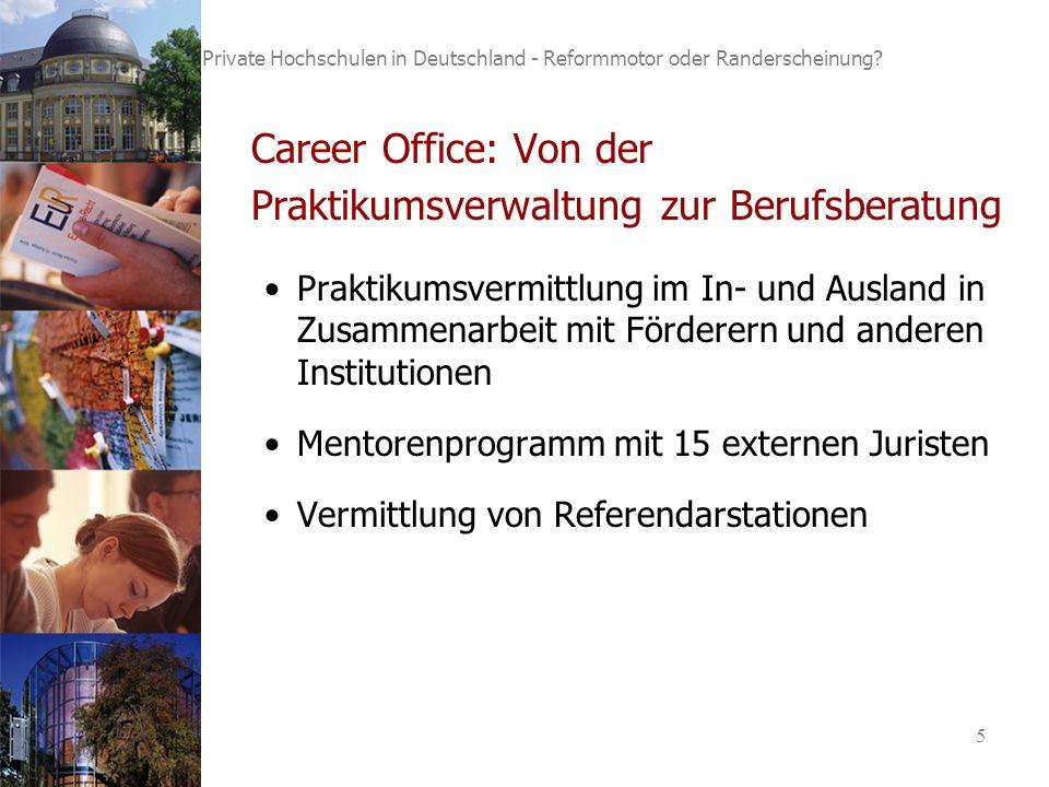 5 Private Hochschulen in Deutschland - Reformmotor oder Randerscheinung.