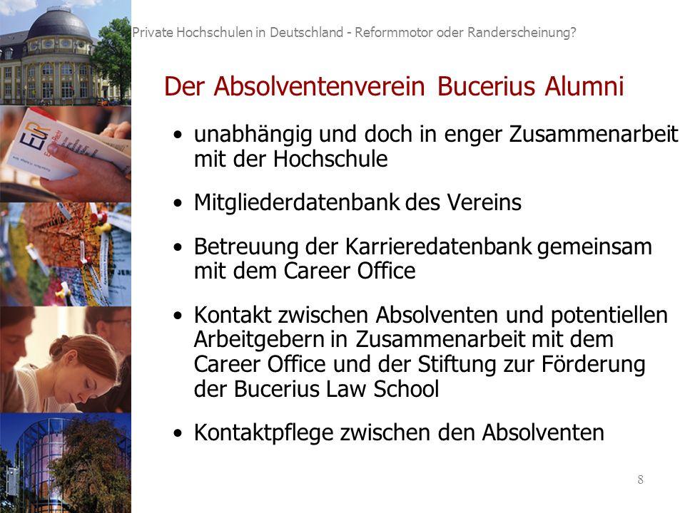 8 Private Hochschulen in Deutschland - Reformmotor oder Randerscheinung.