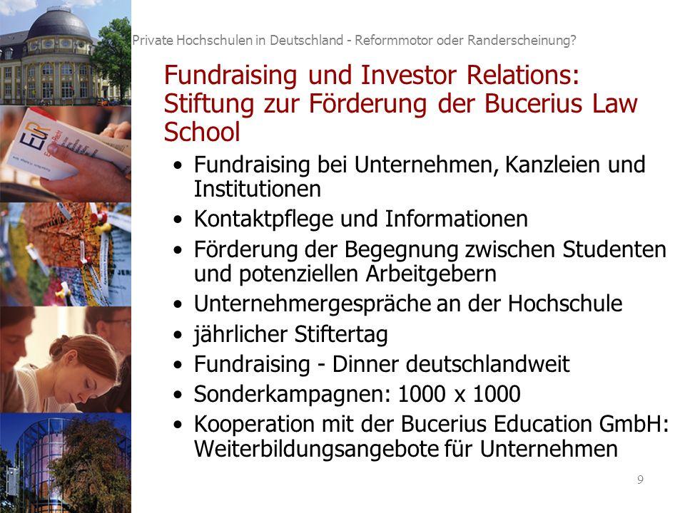 9 Private Hochschulen in Deutschland - Reformmotor oder Randerscheinung.