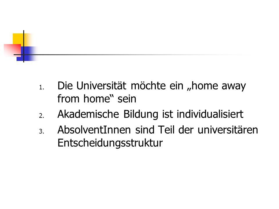 1. Die Universität möchte ein home away from home sein 2.