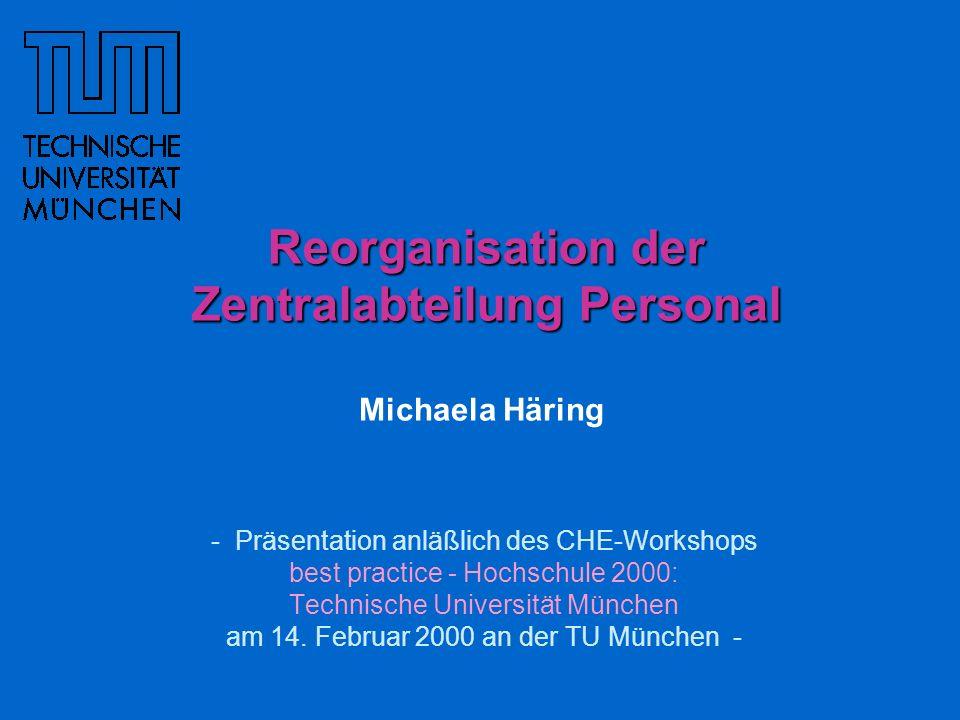 - Präsentation anläßlich des CHE-Workshops best practice - Hochschule 2000: Technische Universität München am 14. Februar 2000 an der TU München - Reo