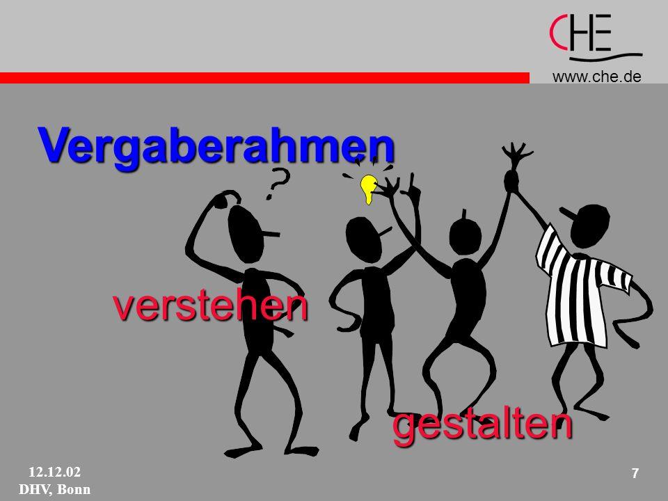 www.che.de 12.12.02 DHV, Bonn 18 Quotieren Fächer .