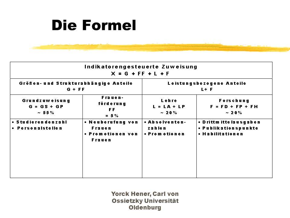 Yorck Hener, Carl von Ossietzky Universität Oldenburg Die Formel