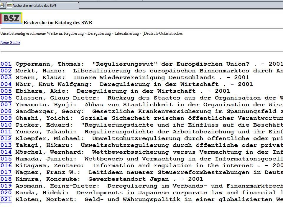 21.11. 2003Dr. Klaus-Rainer Brintzinger Juristisches Seminar Tübingen Folie 9