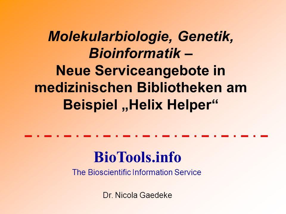Bioinformatics User Support an der Spencer S.