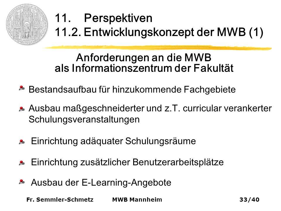 Fr. Semmler-Schmetz33/40 MWB Mannheim 11. Perspektiven 11.2.