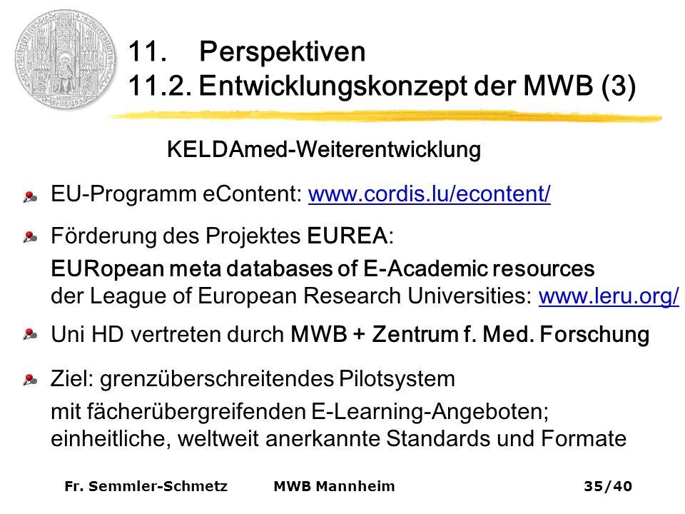 Fr. Semmler-Schmetz35/40 MWB Mannheim 11. Perspektiven 11.2.