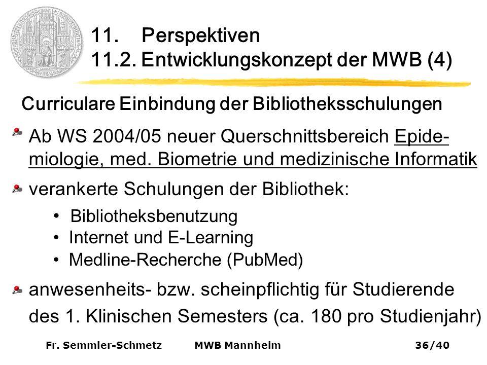 Fr. Semmler-Schmetz36/40 MWB Mannheim 11. Perspektiven 11.2.