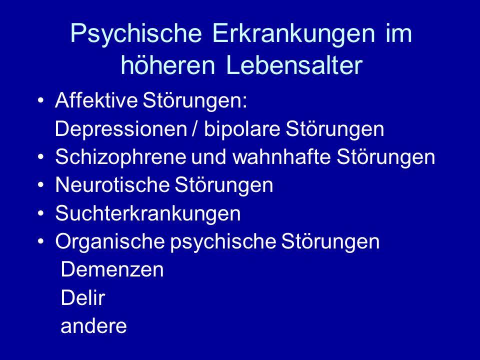 Demenzformen Alzheimerdemenz ca.