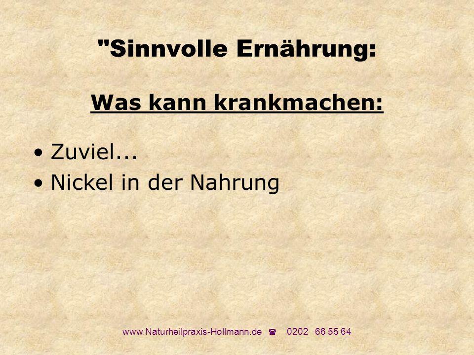 www.Naturheilpraxis-Hollmann.de 0202 66 55 64 Passende Nahrung Welche Nahrungsmittel passen zu mir.