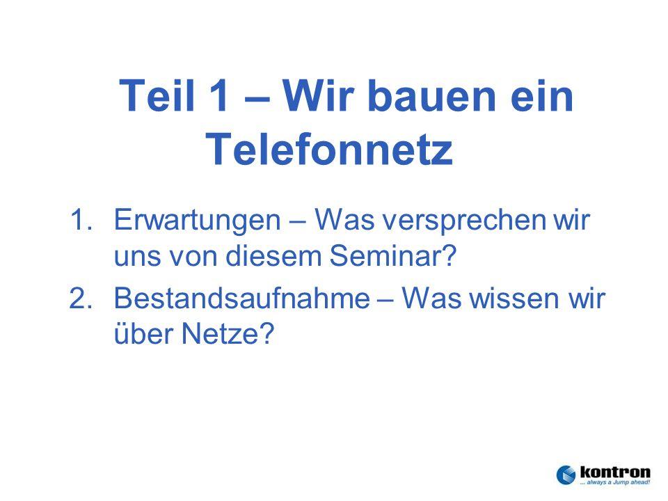 Technik der Netze – Seminar 2006Stephan.Rupp@Kontron.com Seite 25 Kontron Communications Genug für heute!