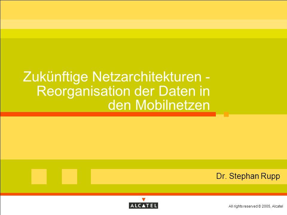 All rights reserved © 2005, Alcatel Page Meta-Information und semantische Modelle Meta-Information: Wo findet sich was.