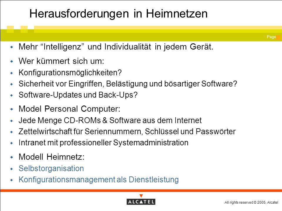 All rights reserved © 2005, Alcatel Page Die Problemzonen beim heutigen Netzdesign Keine Zukunft.