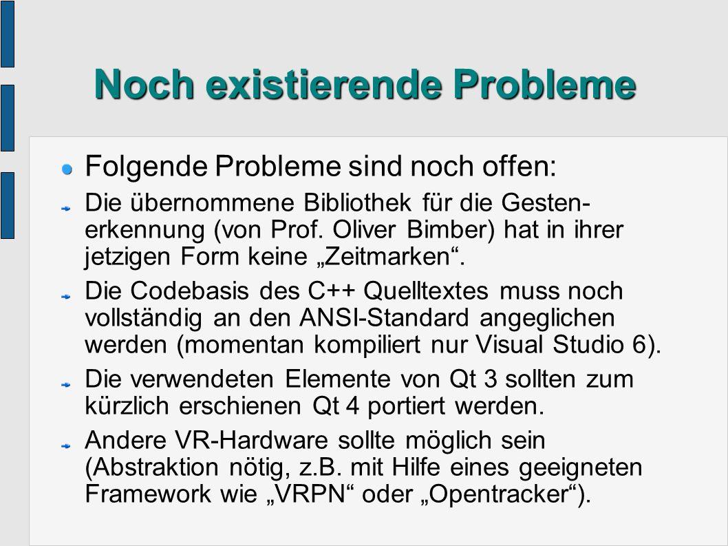 Zukünftige Verbesserungen Ideen für die nächste Version: Beseitigung der erwähnten Probleme.