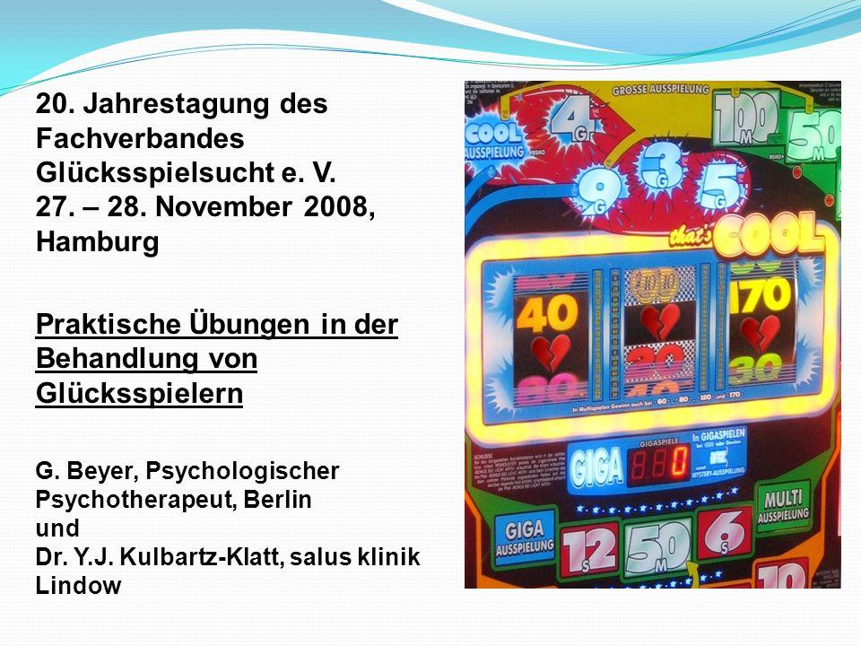 Literatur Bublak, P.: Spielsucht, Universitätsverlag der TU Berlin, 2008 Füchtenschnieder, I.