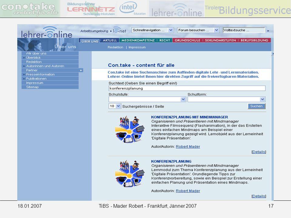 18.01.2007TiBS - Mader Robert - Frankfurt, Jänner 200717