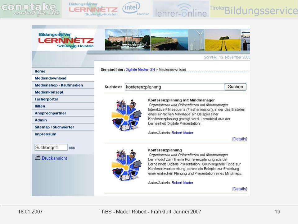 18.01.2007TiBS - Mader Robert - Frankfurt, Jänner 200719