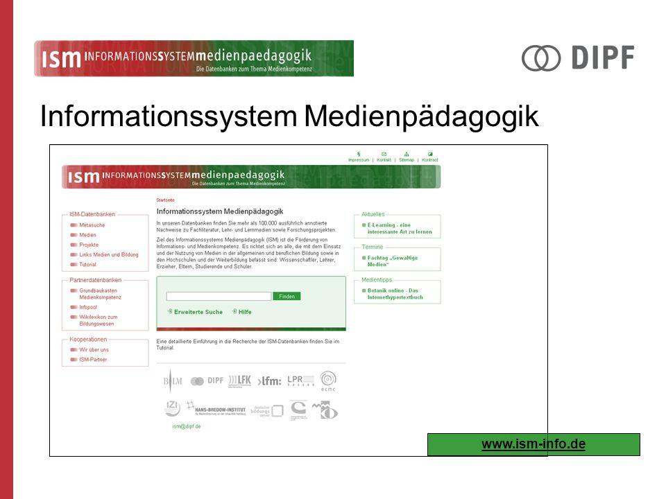 Informationssystem Medienpädagogik www.ism-info.de